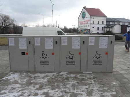 Wrocław: rowerowe boksy pod dworcem kolejowym