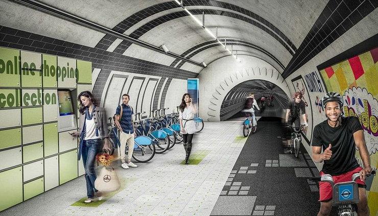 W Londynie wymyślili, aby rowerzyści zeszli do podziemia (dosłownie)